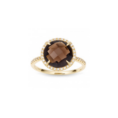Smoky Quartz and Diamond Ring from Lee Michaels