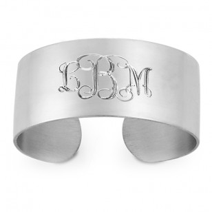 personalized cuff bracelet Lee Michaels